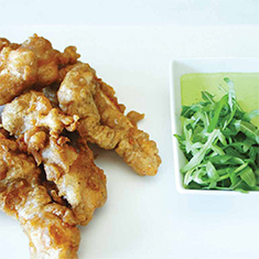 Peppered Coley Tempura with Rocket Mayonnaise