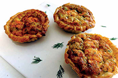 Camembert and Smoked Salmon Tarts